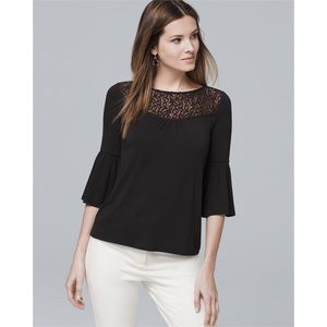 White House Black Market bell sleeve top large